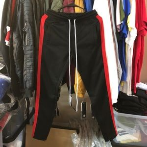 Track Pants - Black/Red